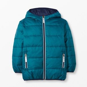 Hanna Andersson Reversible Down Jacket size 140